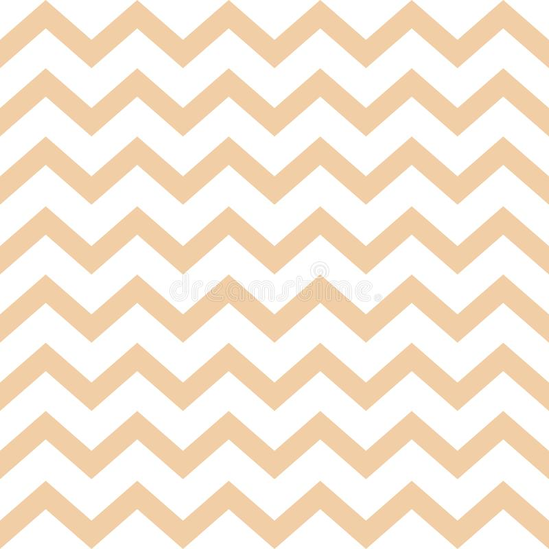 Modelo incons?til de Cheron Textura beige del vector del zigzag Fondo colorido de la raspa de arenque Vector libre illustration