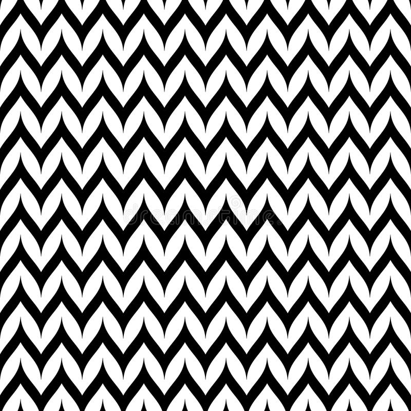 Modelo inconsútil de Chevron del zigzag del vector Línea ondulada curvada de Zig Zag libre illustration