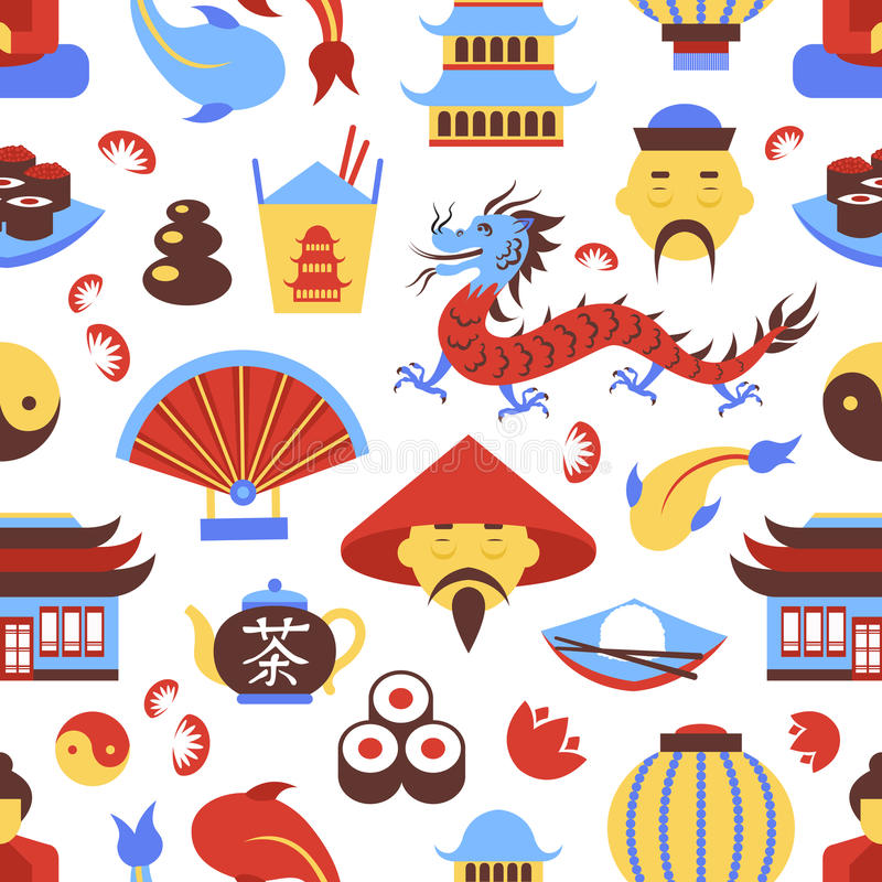 Modelo inconsútil de China libre illustration