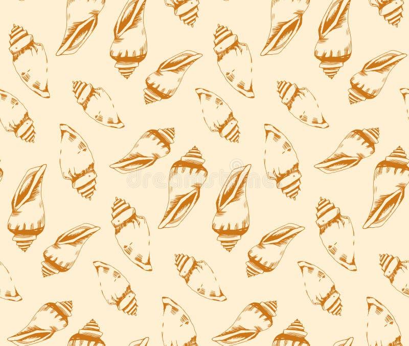 Modelo inconsútil de conchas marinas libre illustration
