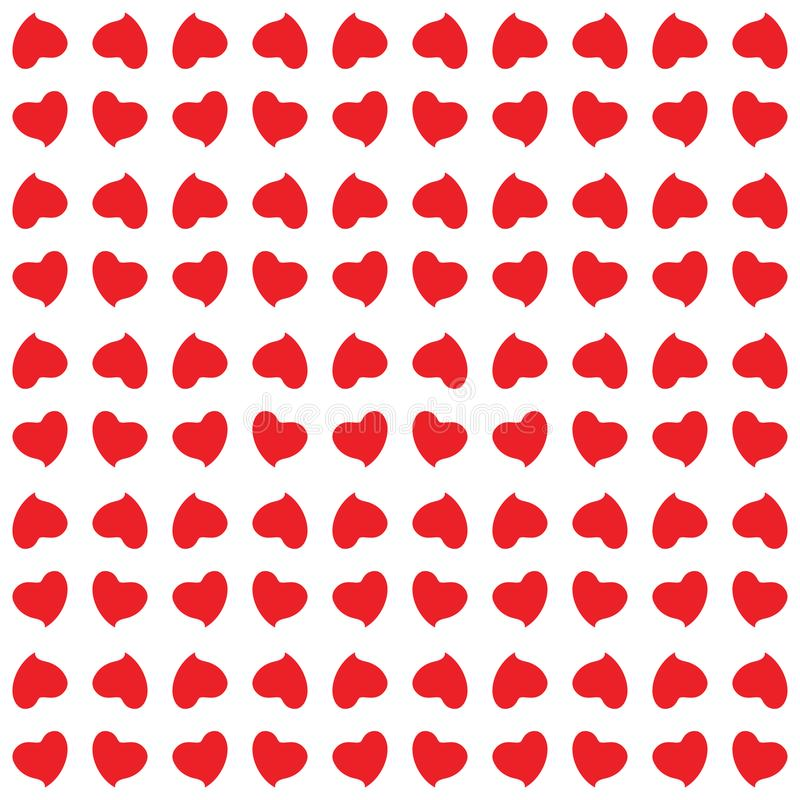 Modelo inconsútil de corazones imagen de archivo