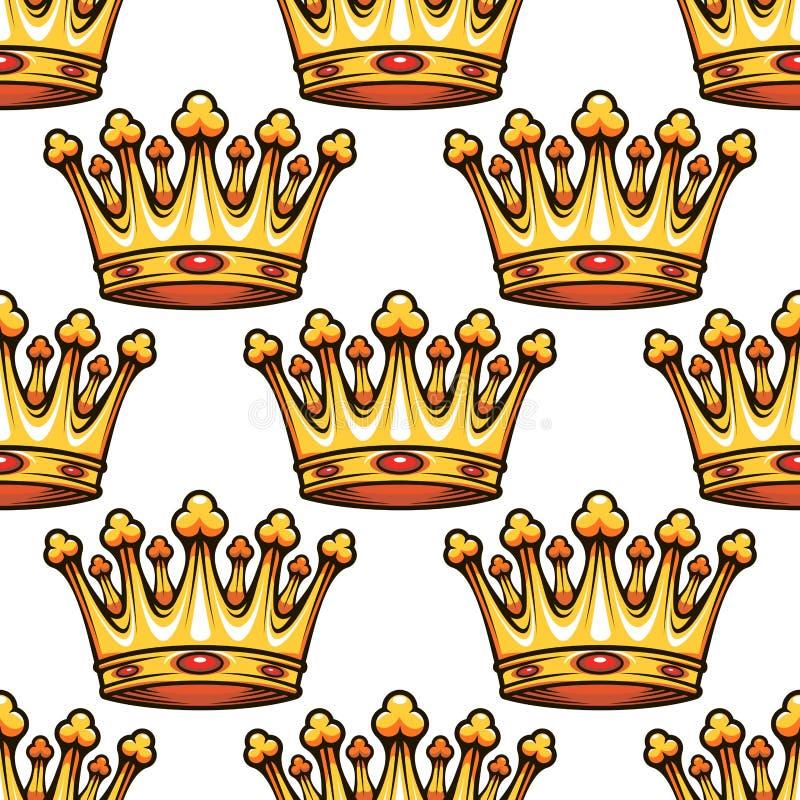 Modelo inconsútil de coronas reales medievales libre illustration