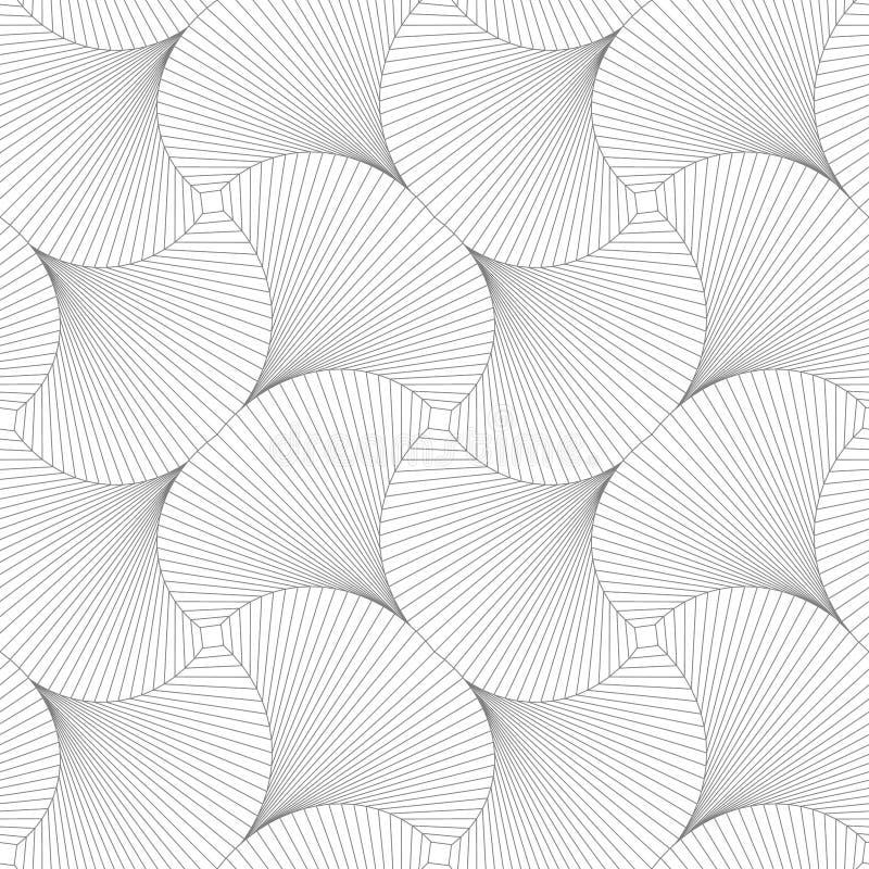 Modelo inconsútil de cuadrados Ilusión óptica de la rotación stock de ilustración
