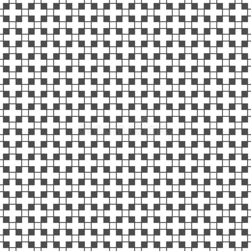 Modelo inconsútil de cuadrados y de cruces Papel pintado geométrico La O.N.U ilustración del vector