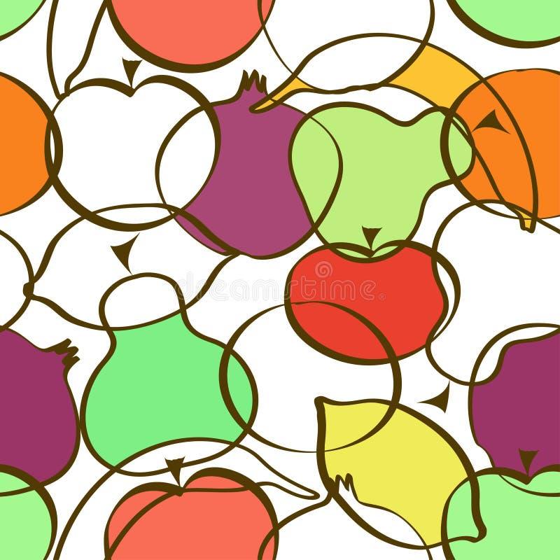 Modelo inconsútil de diversas frutas libre illustration