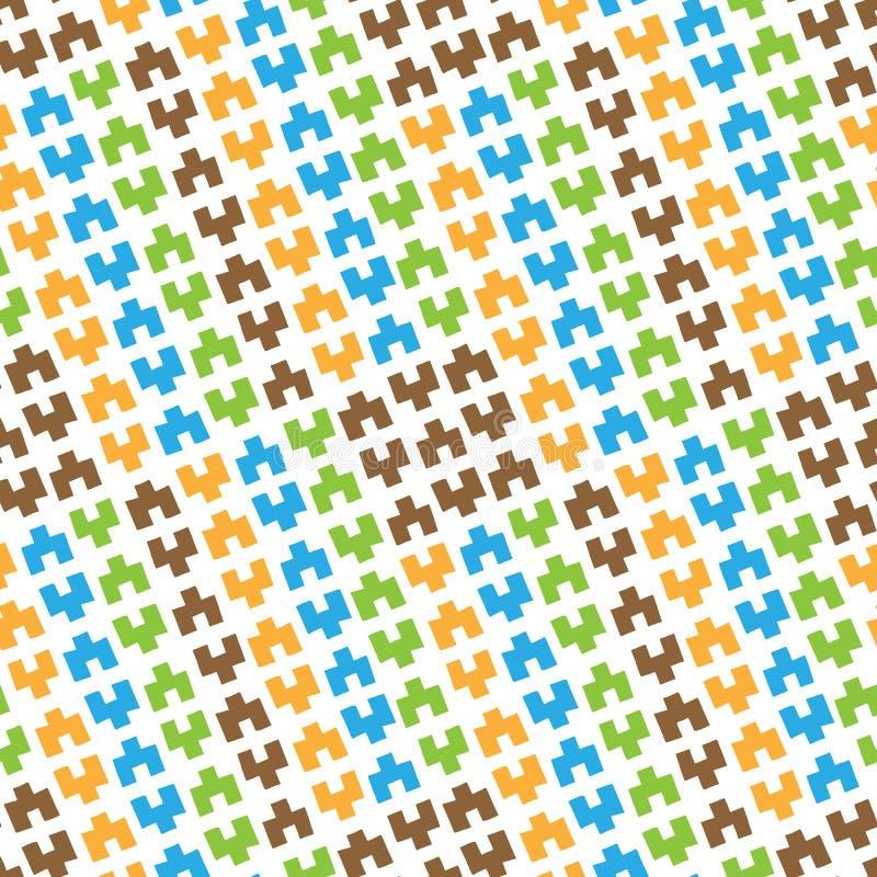 Modelo inconsútil de figuras geométricas coloreadas stock de ilustración