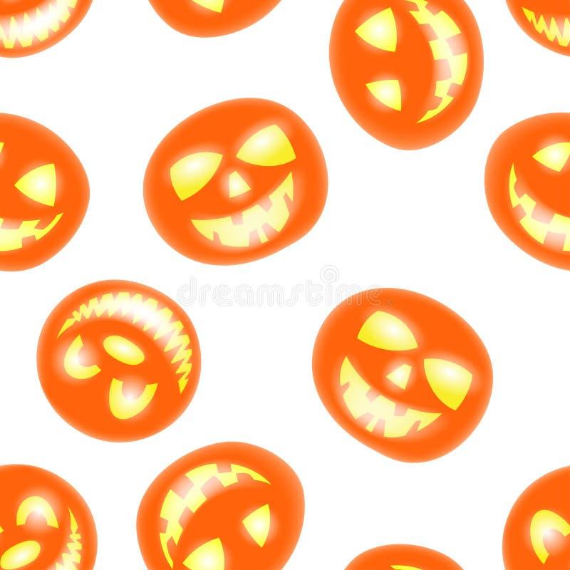 Modelo inconsútil de Halloween stock de ilustración