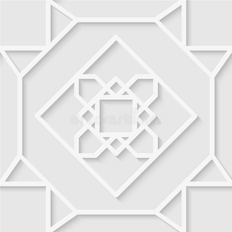 Modelo inconsútil de líneas Ornamento hermoso Wallpap geométrico fotografía de archivo libre de regalías