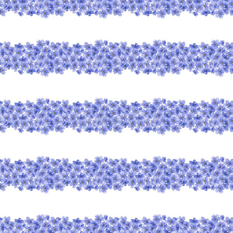 Modelo inconsútil de la acuarela con el azul olvidarme no flores ilustración del vector
