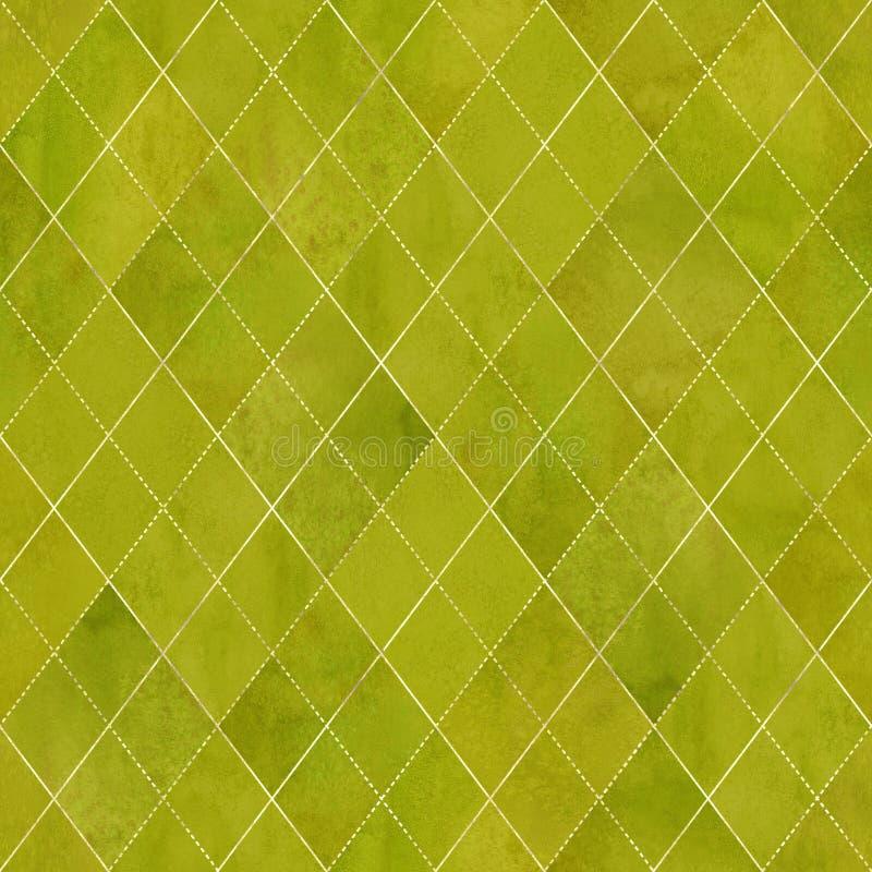 Modelo inconsútil de la acuarela geométrica de Argyle stock de ilustración