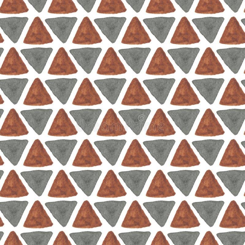Modelo inconsútil de la acuarela Materia textil africana stock de ilustración