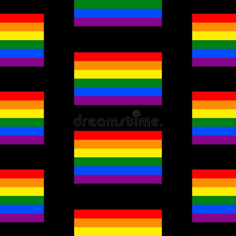 Modelo inconsútil de la bandera gay ilustración del vector