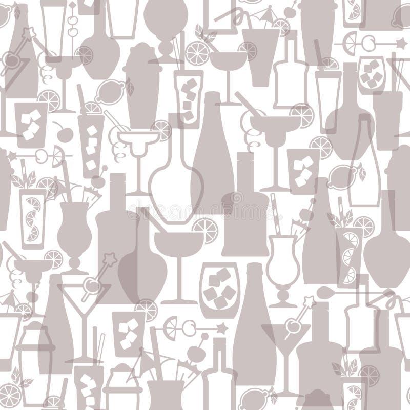 Modelo inconsútil de la barra del alcohol del cóctel libre illustration