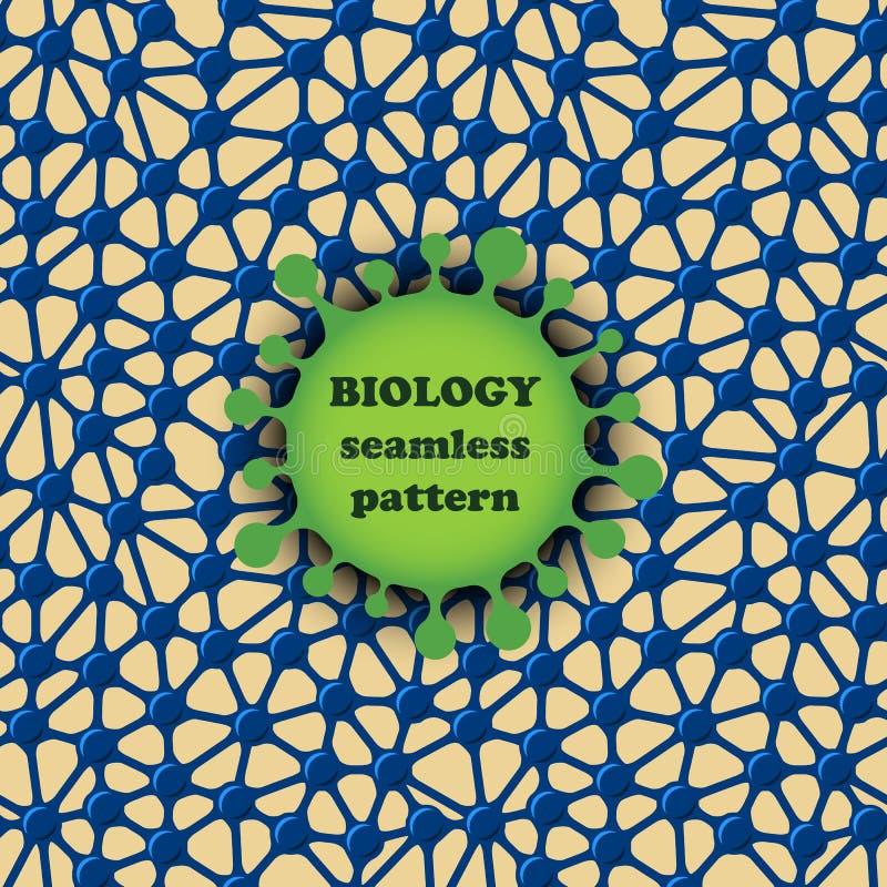 Modelo inconsútil de la biología, diseño orgánico stock de ilustración