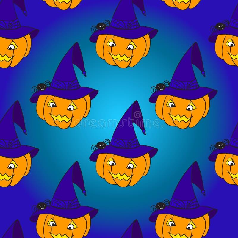 Modelo inconsútil de la calabaza de Halloween stock de ilustración