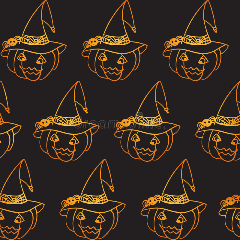 Modelo inconsútil de la calabaza de Halloween libre illustration