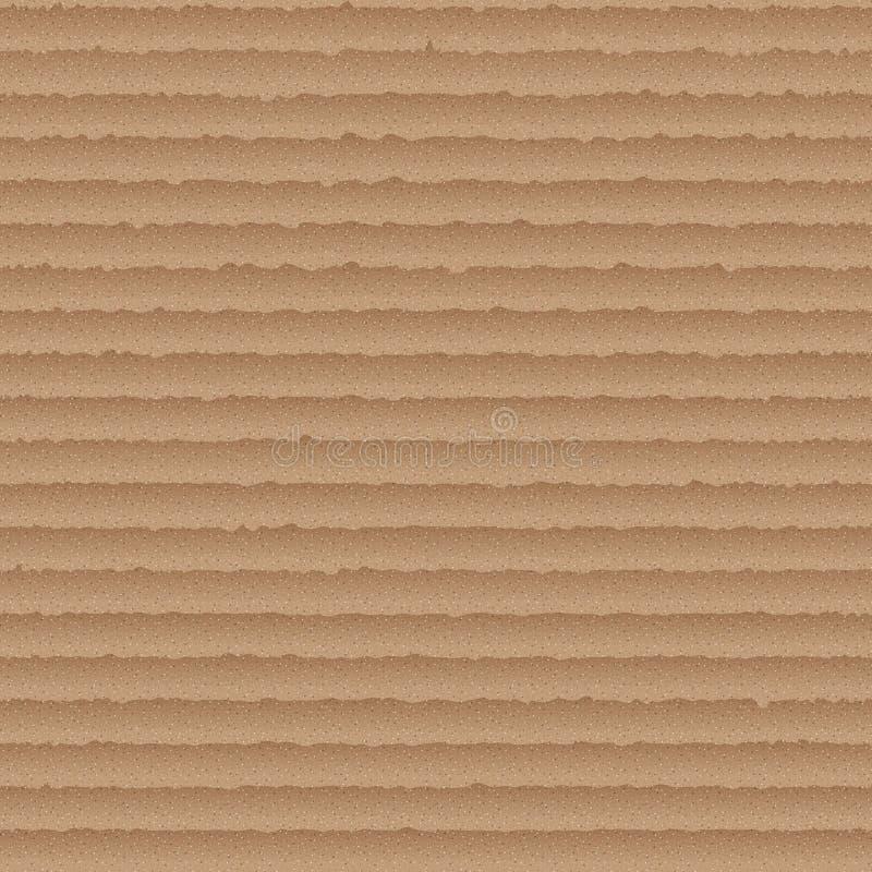 Modelo inconsútil de la cartulina - fondo sin fin con el cartón marrón stock de ilustración