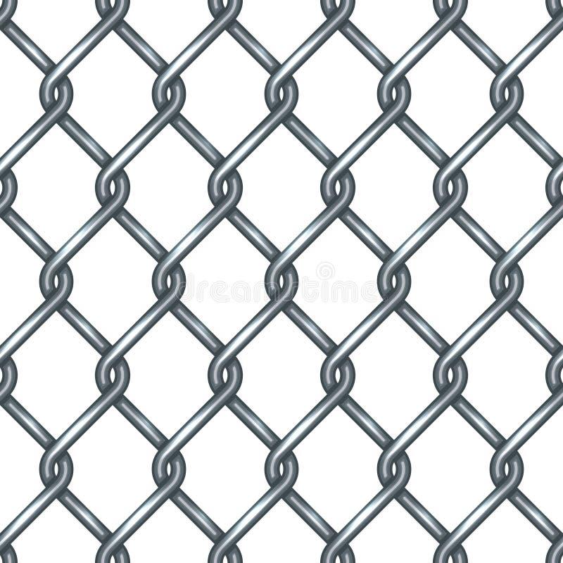 Modelo inconsútil de la cerca de la alambrada ilustración del vector