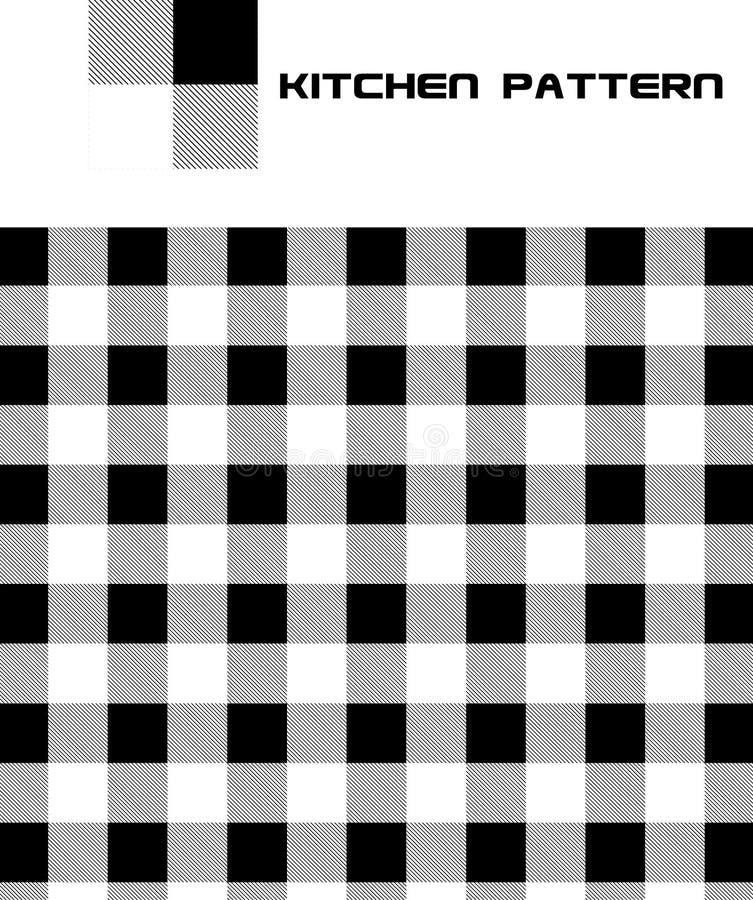 Modelo inconsútil de la cocina del vector libre illustration