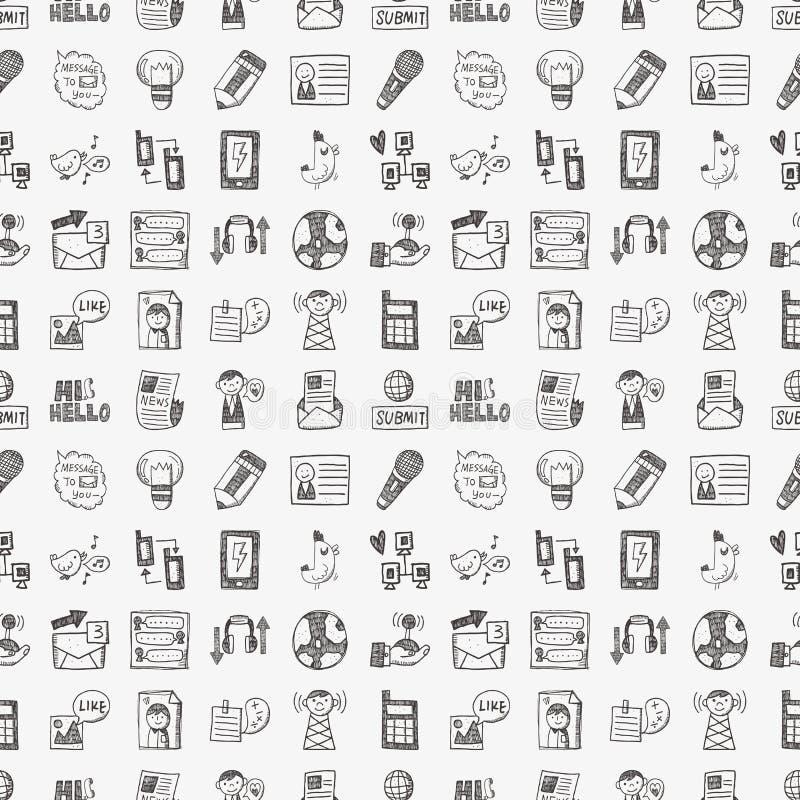 Download Modelo Inconsútil De La Comunicación Del Doodle Ilustración del Vector - Ilustración de fondo, media: 42432210