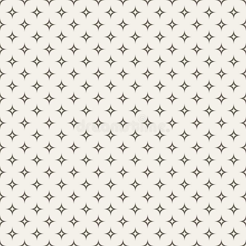 Modelo inconsútil de la estrella abstracta blanco y negro stock de ilustración