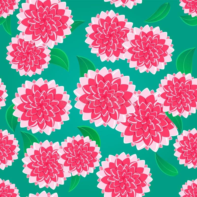 Modelo inconsútil de la flor rosada brillante ilustración del vector
