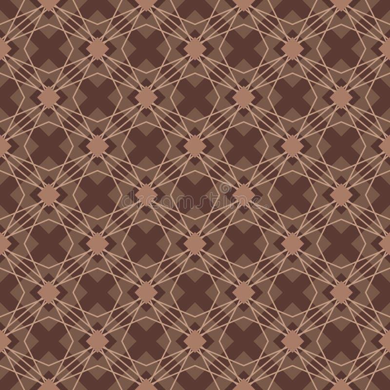 Modelo inconsútil de la forma del diamante del color de Brown ilustración del vector