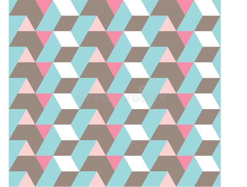 Modelo inconsútil de la geometría ilustración del vector