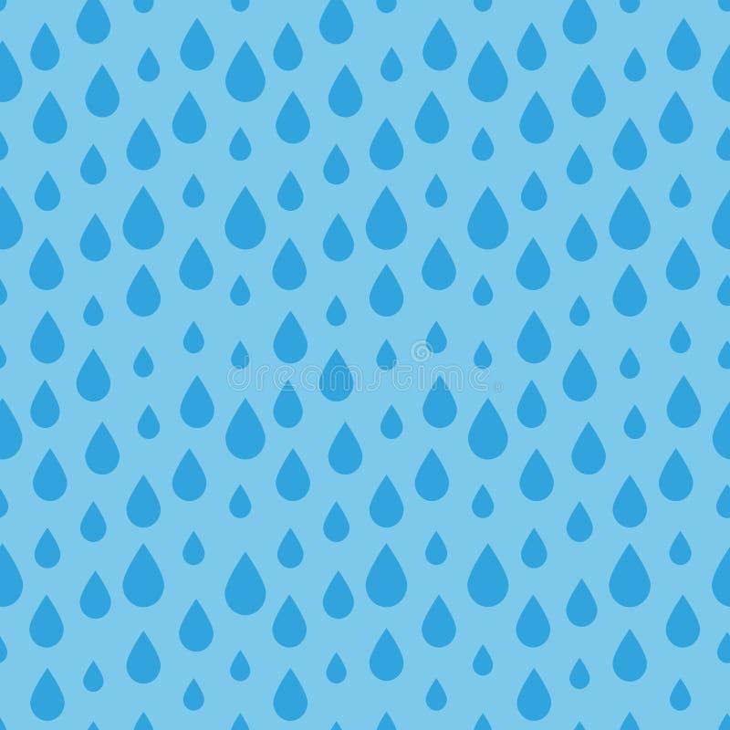 Modelo inconsútil de la gota del agua ilustración del vector