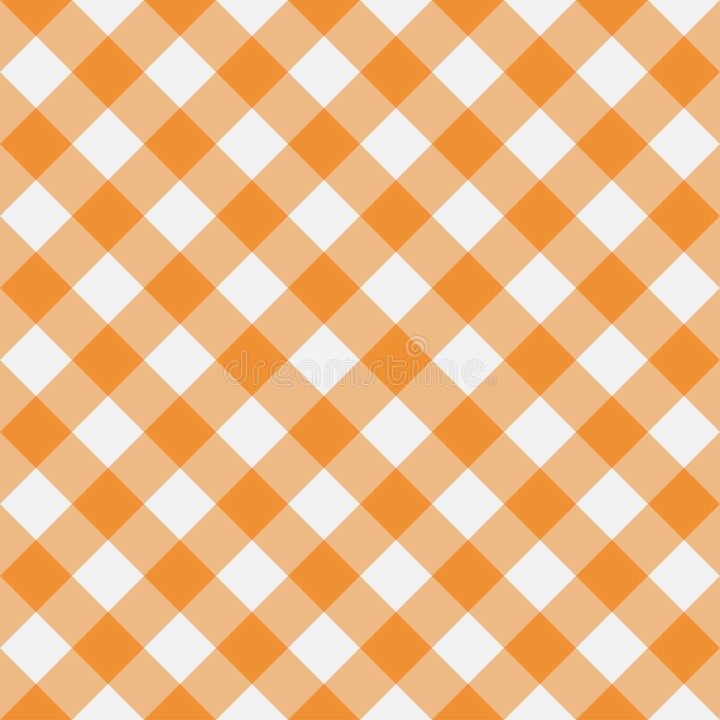 Modelo inconsútil de la guinga anaranjada Textura del Rhombus para la tela escocesa, manteles, ropa Ilustración del vector libre illustration