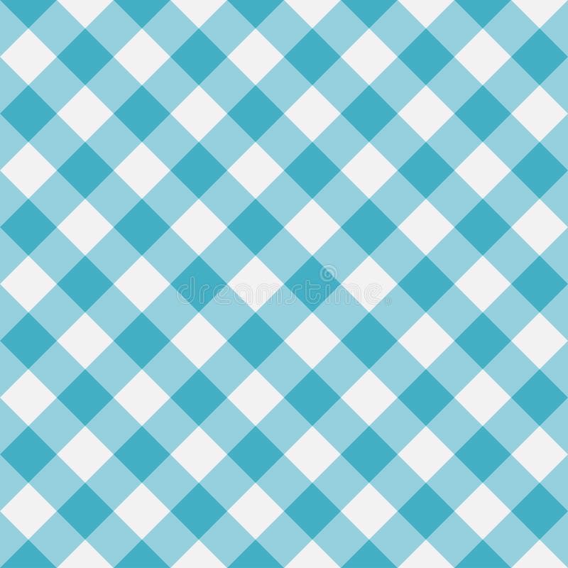 Modelo inconsútil de la guinga azul Rayas diagonales Ilustración del vector ilustración del vector