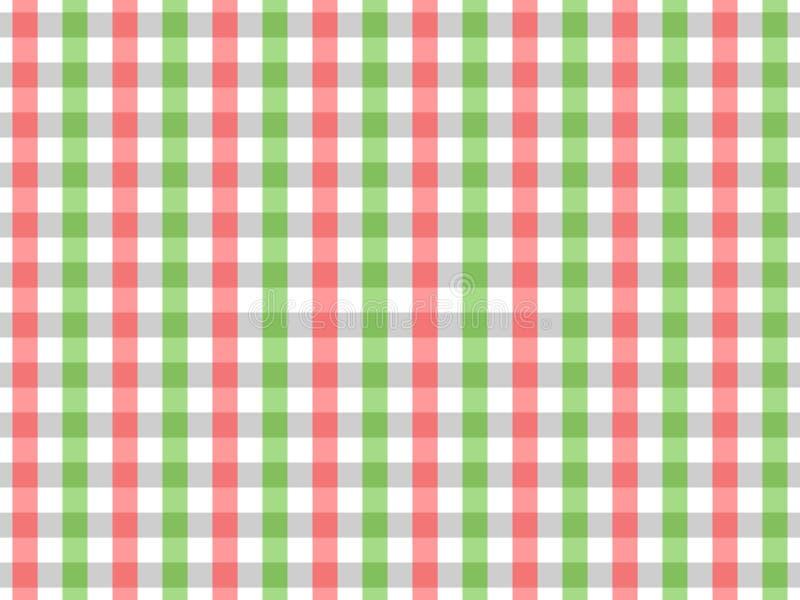 Modelo inconsútil de la guinga del mantel rojo y verde Diseño bicolor libre illustration
