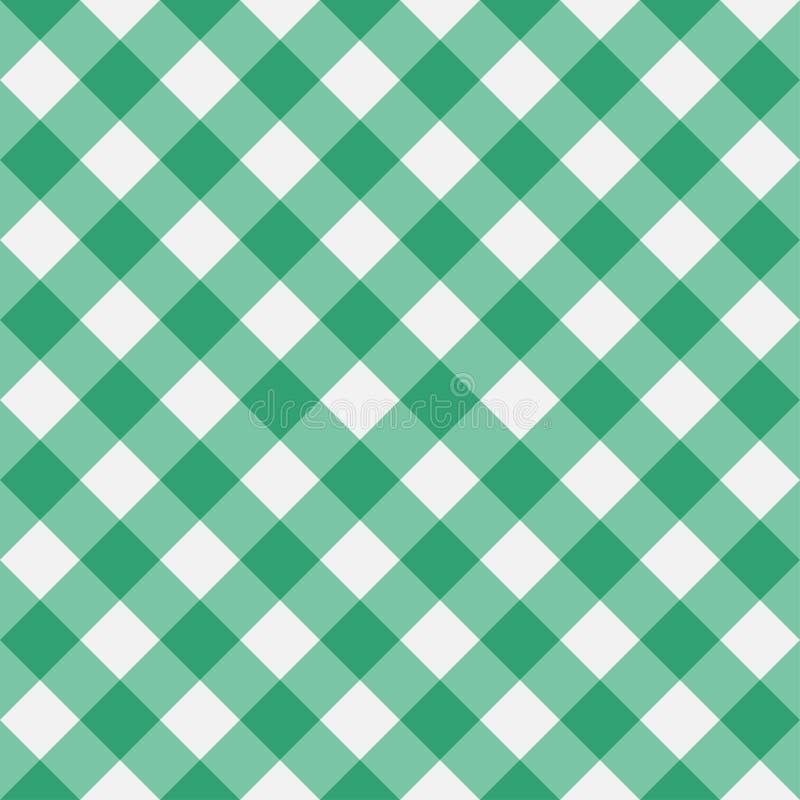 Modelo inconsútil de la guinga verde Ilustración del vector stock de ilustración