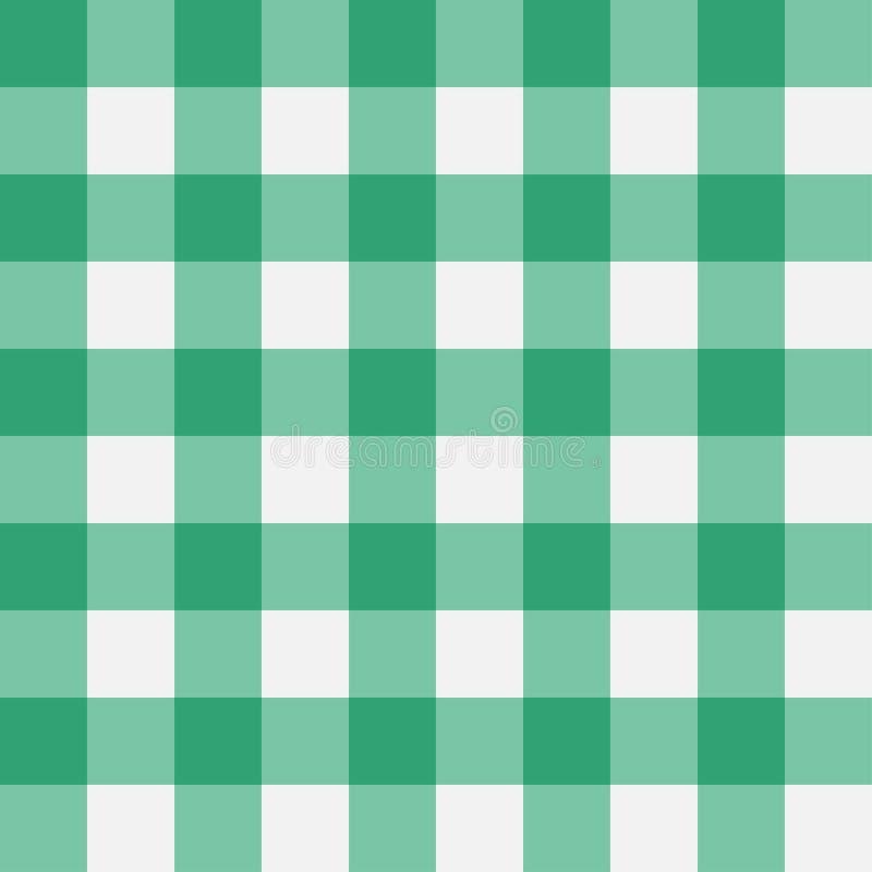 Modelo inconsútil de la guinga verde Tiras perpendiculares Textura para - la tela escocesa, manteles, ropa Ilustración del vector ilustración del vector