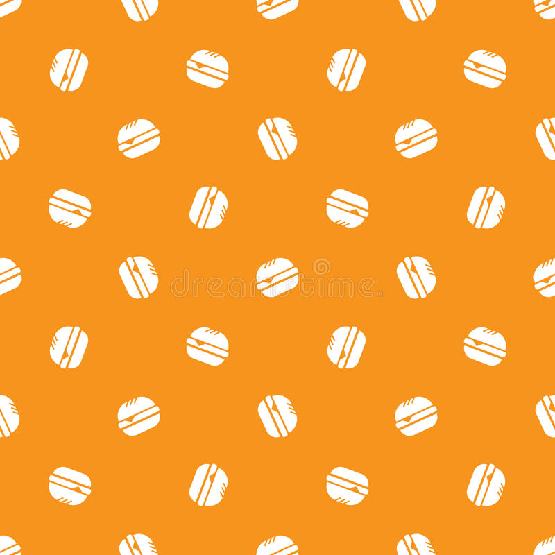 Modelo inconsútil de la hamburguesa minimalistic del vector ilustración del vector