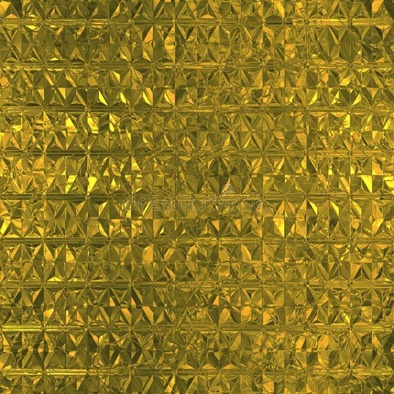 Modelo inconsútil de la hoja de oro fotografía de archivo