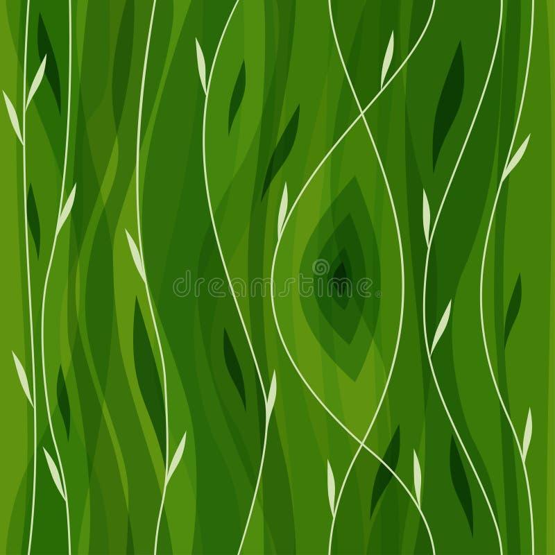 Modelo inconsútil de la hoja del vector Naturaleza abstracta ilustración del vector