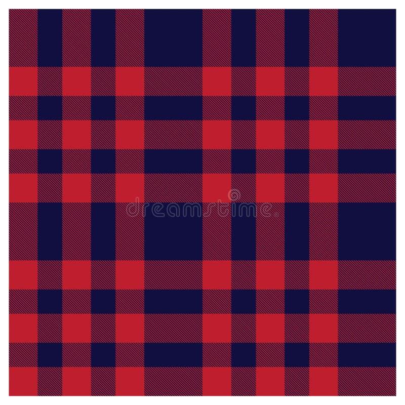 Modelo inconsútil de la impresión del tartán moderno clásico colorido de la tela escocesa ilustración del vector