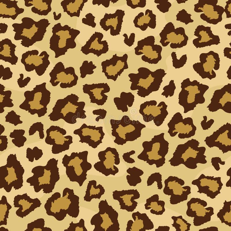 Modelo inconsútil de la impresión de la piel de la piel del leopardo ilustración del vector