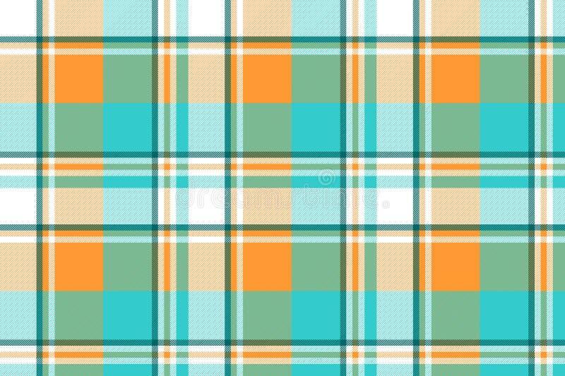 Modelo inconsútil de la luz de la tela escocesa del control de Madras ilustración del vector