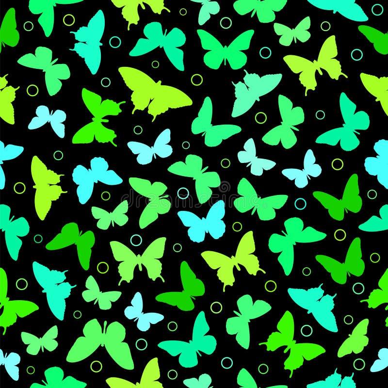 Modelo inconsútil de la mariposa ilustración del vector