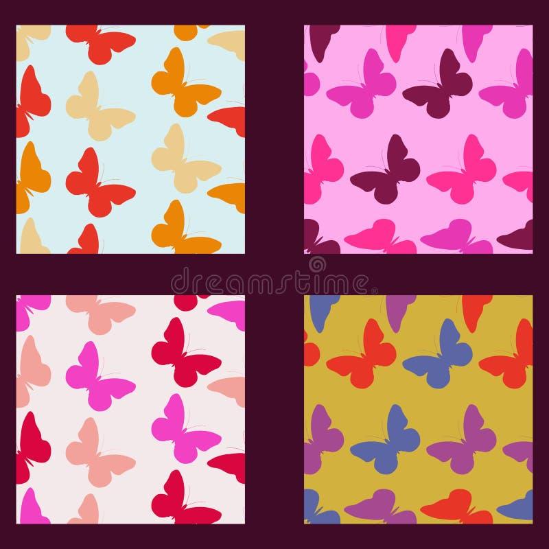 Modelo inconsútil de la mariposa Modelo inconsútil de mariposas stock de ilustración