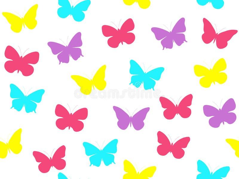 Modelo inconsútil de la mariposa Modelo inconsútil de mariposas libre illustration