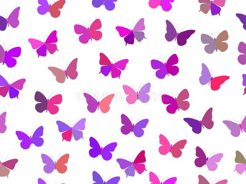 Modelo inconsútil de la mariposa Modelo inconsútil de mariposas Mariposas multicoloras libre illustration