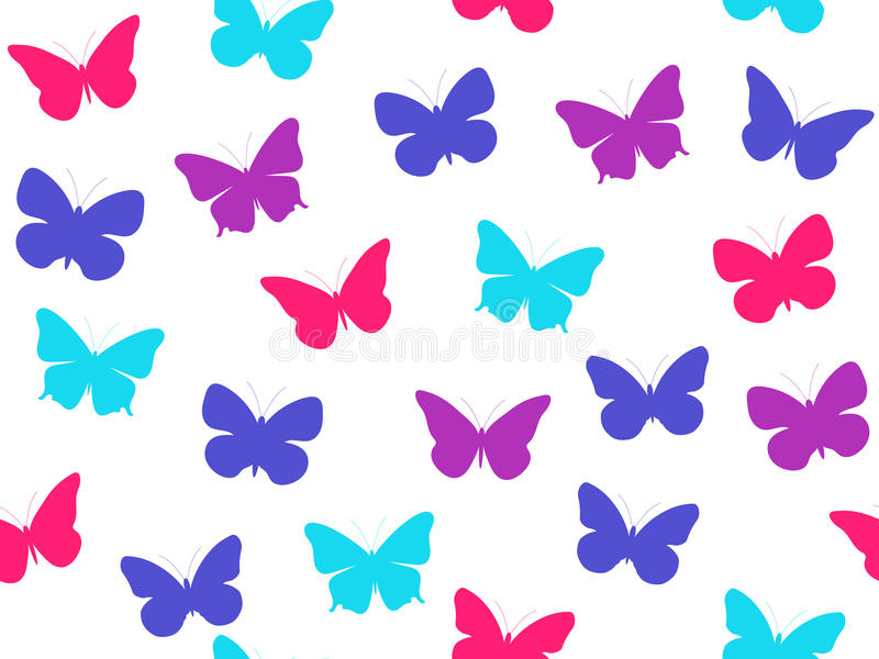 Modelo inconsútil de la mariposa Modelo inconsútil de mariposas Mariposas multicoloras Vector libre illustration