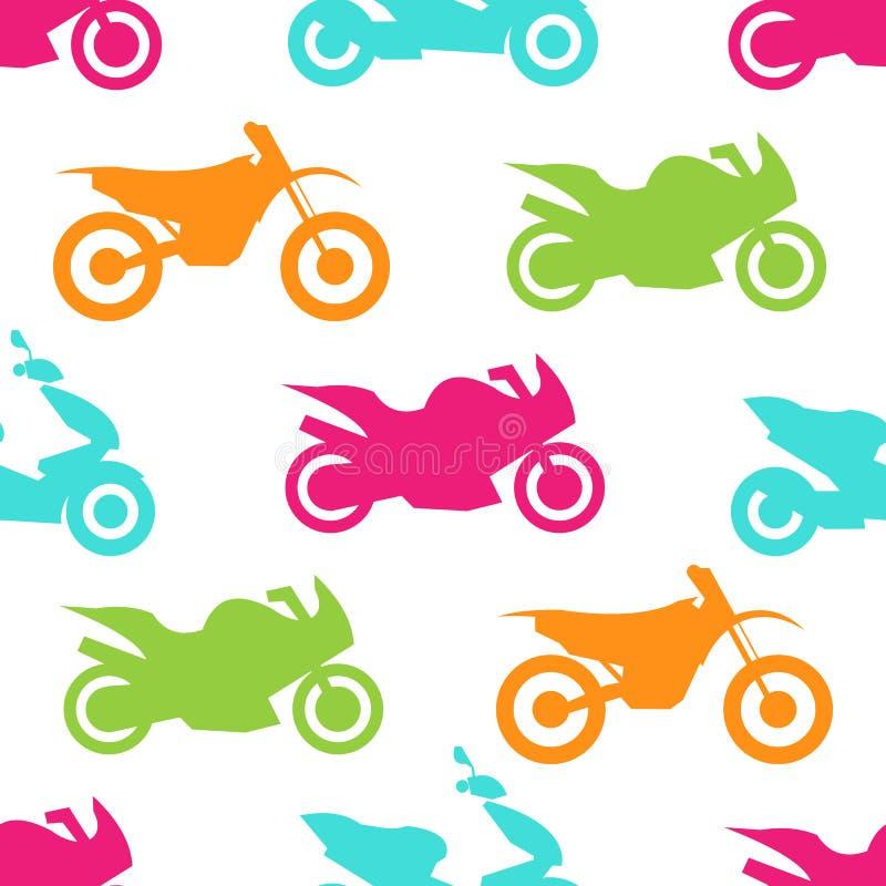 Modelo inconsútil de la motocicleta retra libre illustration