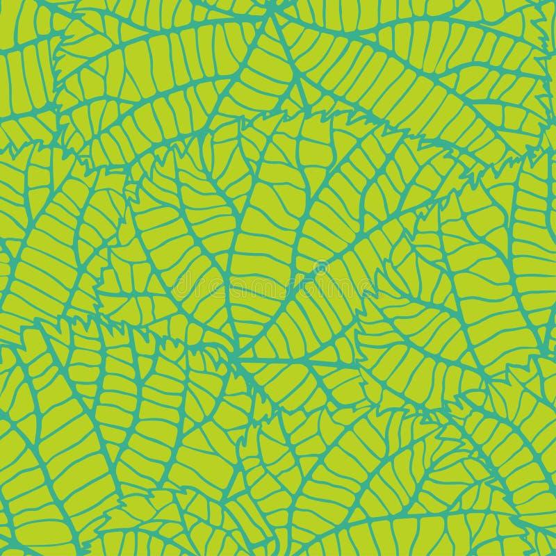Modelo inconsútil de la naturaleza con las hojas verdes ilustración del vector