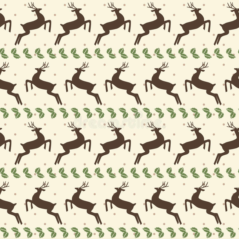 Modelo inconsútil de la Navidad étnica con los ciervos libre illustration