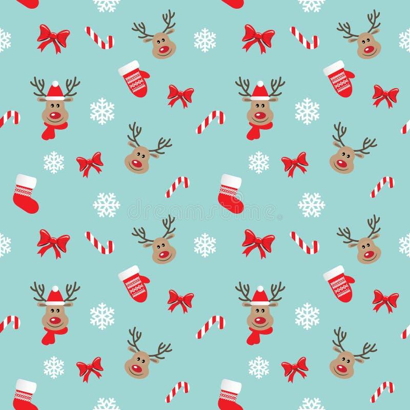 Modelo inconsútil de la Navidad con los ciervos libre illustration