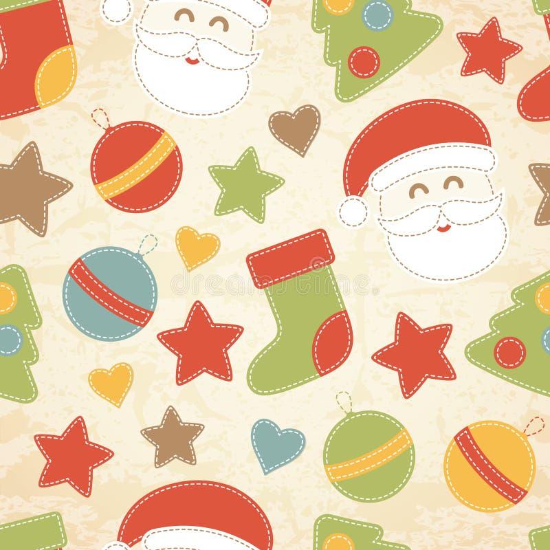 Modelo Inconsútil De La Navidad Infantil Con Santa Claus, Los ...